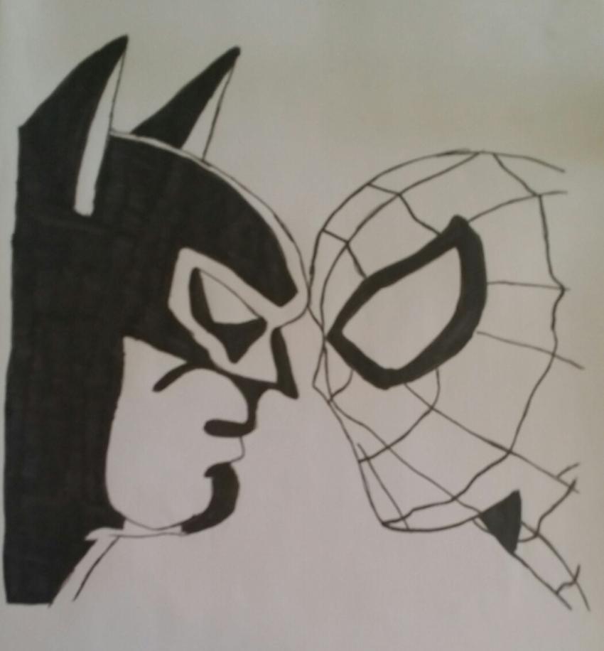 Spider-Man, Batman par bruce72